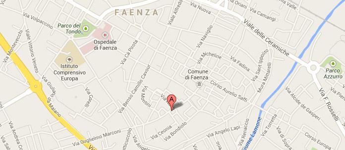 Contatti Dottoressa Annamaria Acquaviva faenza-mappa