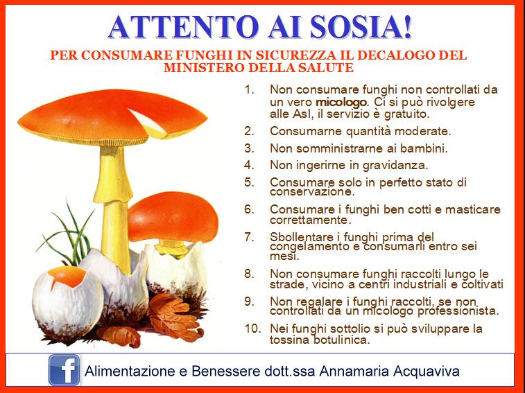 funghi prevenzione intossicazione sicurezza
