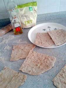 piadina integrale all'olio di oliva